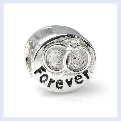 Sterling Silver Wedding Engagement Ring Love Bead for European Charm Bracelet