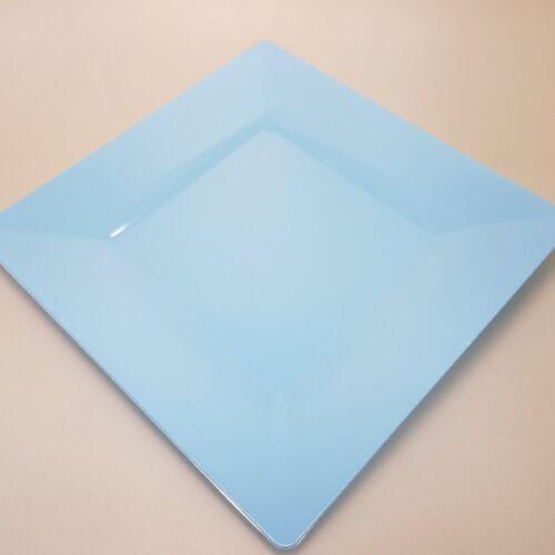 "Mehrweg Premium Teller /""Spigolo/"" 25 Stück Himmelblau 23x23cm"