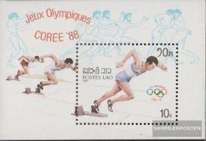 Laos-Block115-kompl-Ausg-postfrisch-1987-Olympische-Sommerspiele-88