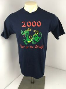 Vintage-2000-Chinese-Year-of-the-Dragon-Millennium-USA-MADE-Mens-M-Shirt