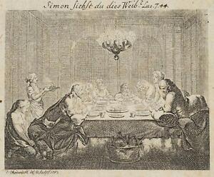 Chodowiecki (1726-1801). la büssende Magdalena; pressione grafico 2