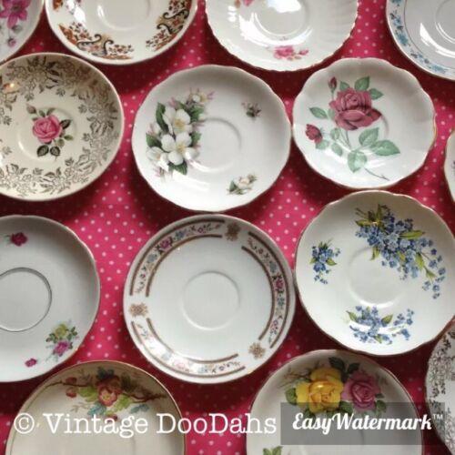 Job Lot Of 50 Vintage désadaptation SOUCOUPES-Tea parties