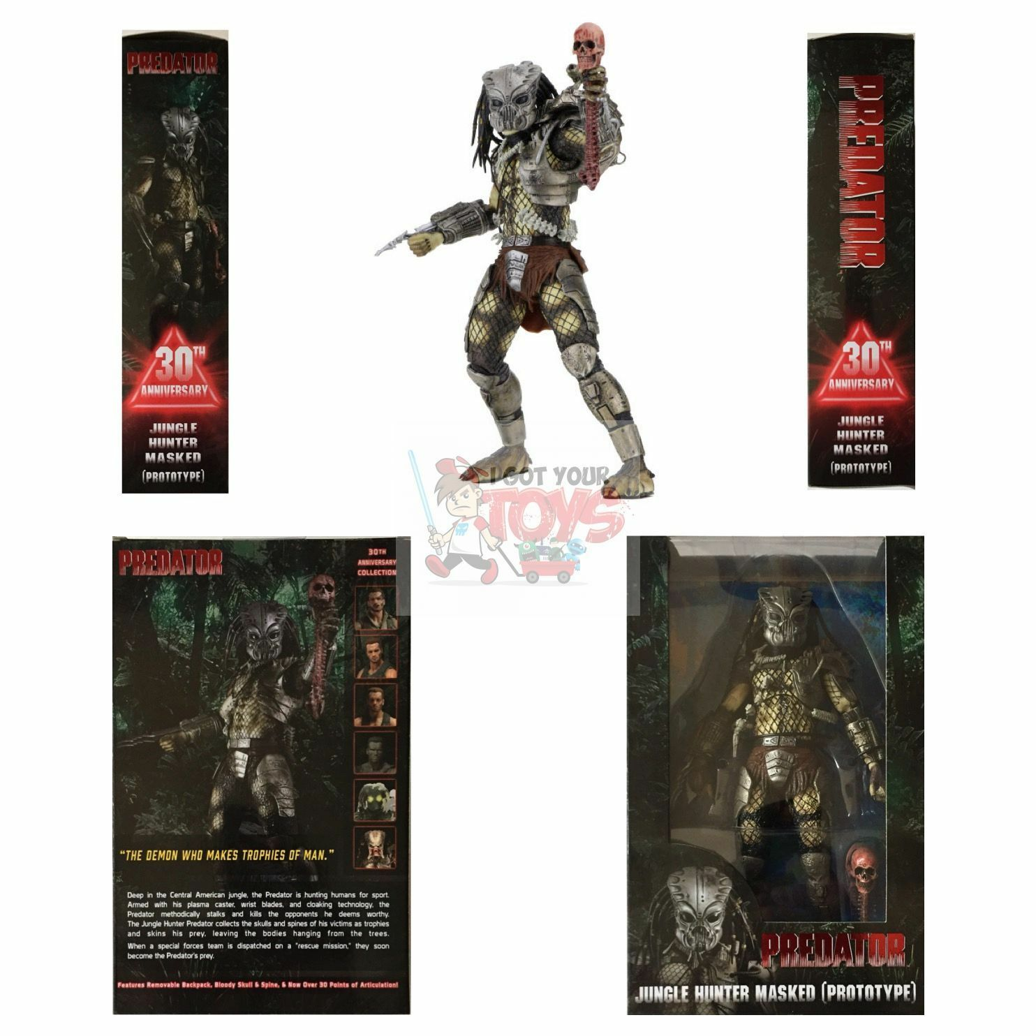 JUNGLE HUNTER MASKED GORT Neca PREDATOR 30th Anniversary Series 18 2017 7  Inch