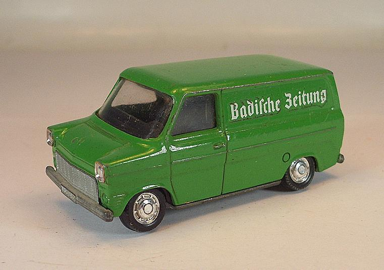 Schuco 1 66 no 311 912 Ford Transit Box Baden Newspaper Promotional Model 2  331
