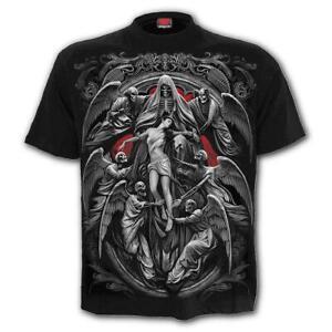 SPIRAL-DIRECT-REAPER-039-S-DOOR-T-Shirt-Biker-Grim-Reaper-Skull-Gothic-Top-Tee-Death