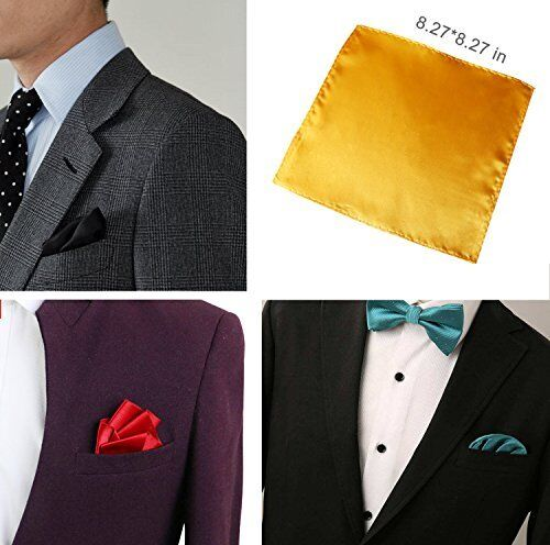 Wedding Set Mens Handkerchief Lot 30-Pcs Assorted Silk Satin Pocket Square Party