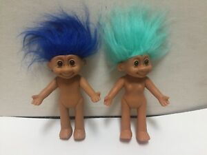 Image Is Loading Set Of 2 Vintage Russ Troll Dolls