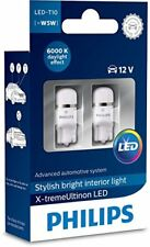 Philips Vision Xenon White LED Bulbs W5W T10 Car Bulbs 6000K 127996000KX2