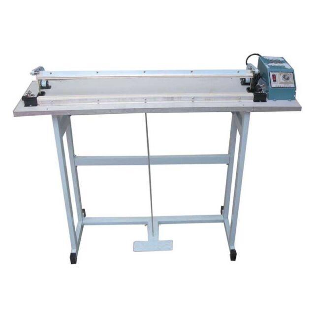 220v 400mm Heat Seal Machine By Foot Pedal Impulse Sealer Plastic Bag Sealing