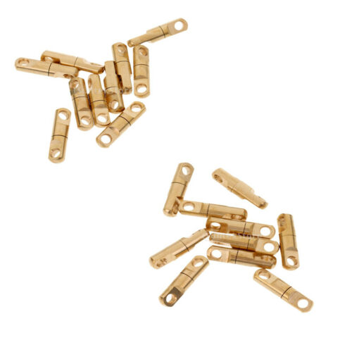 20 Pieces Brass Heavy Duty Swivel Solid Rings Fishing Connector 4mm//6mm