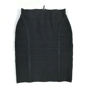 Guess Womens Mirage Bandage Bodycon Mini Skirt Size S Black Back Zip Slim Fit