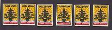 6 Anciennes   étiquettes allumettes Tchécoslovaquie  BN13941 sapin Noël