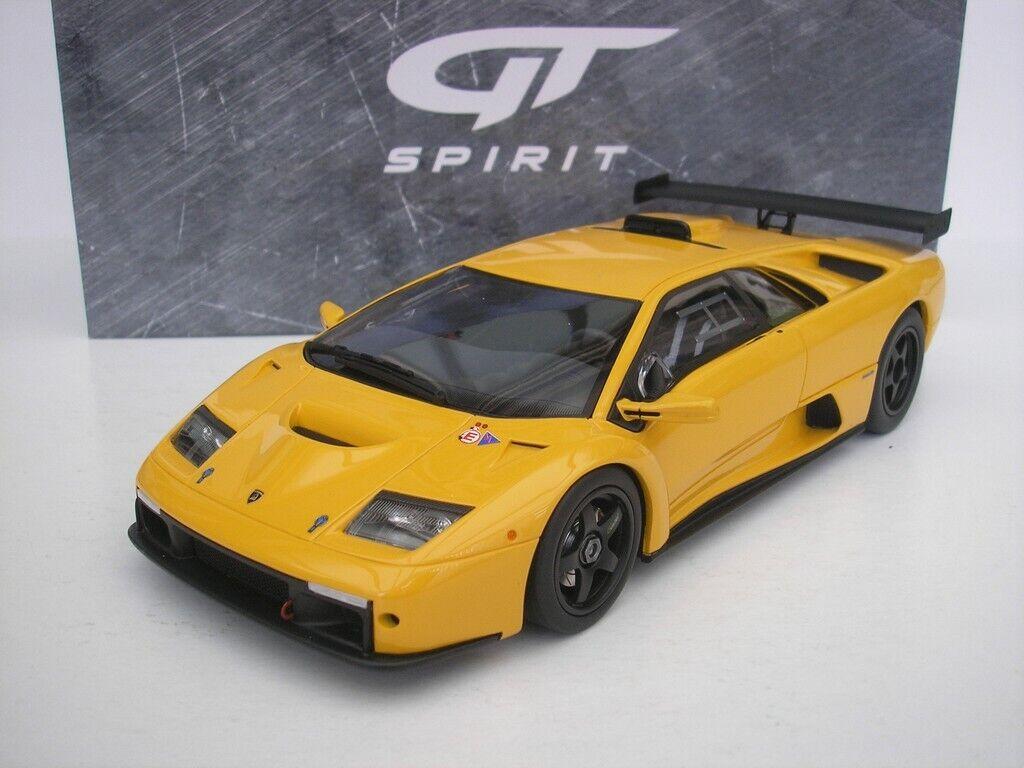 Lamborghini Diablo GT-R jaune 1 18 GT Spirit KYOSHO gts1850y NEUF