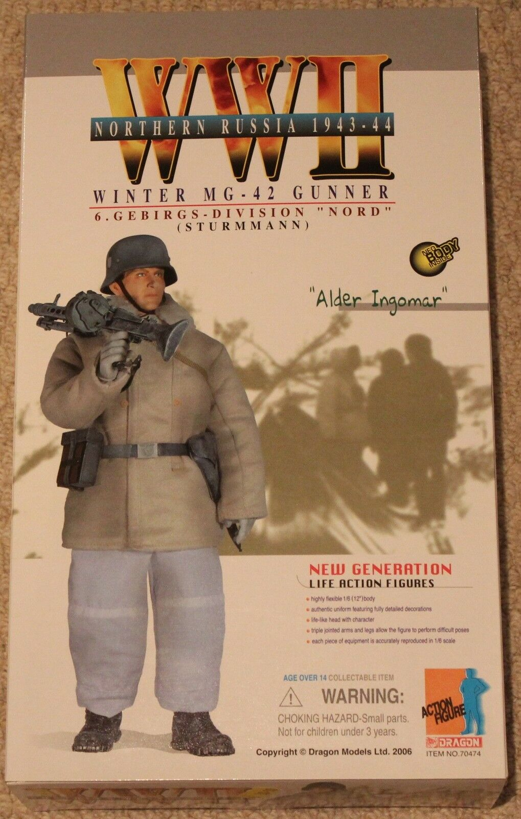Dragon action figure 1 6 ww11 german alder 70474 12'' boxed  did cyber hot toy