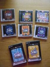 PC Spiele Paket:original Die Sims Grundspiel + 7 Add ons Erweiterungspacks