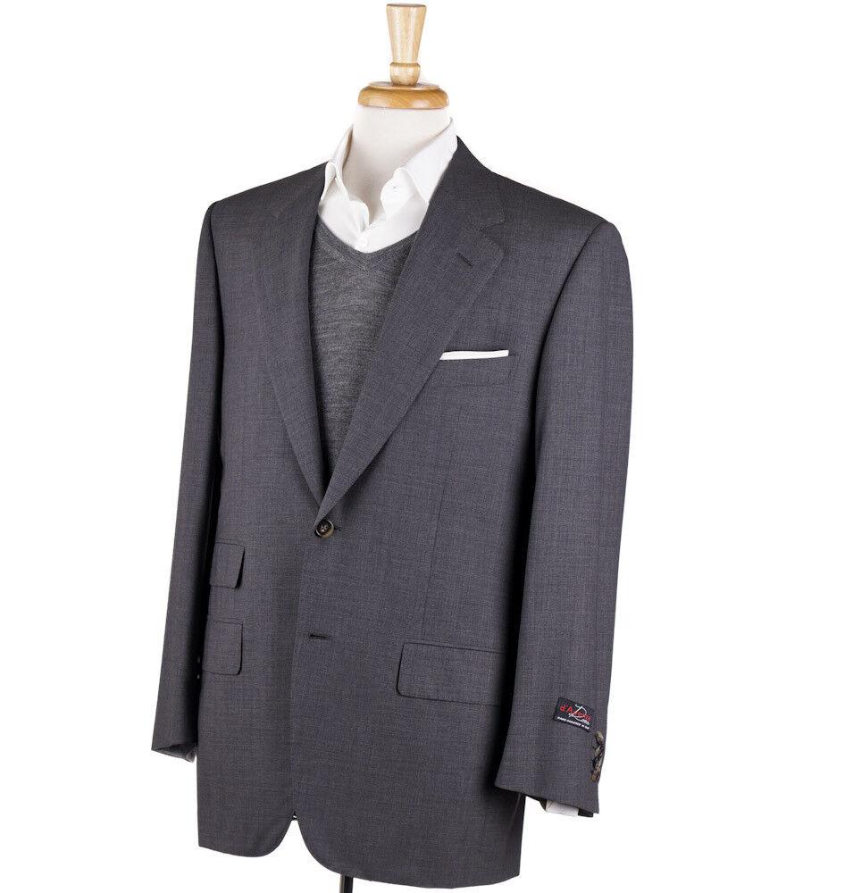 New 3295 D'AVENZA Medium grau Woven Super 150s Wool Sport Coat 42 R