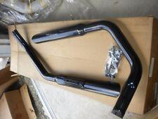 "NOS Mac Harley Davidson Sportster Staggered Duals Exhaust 1 3/4"" Black Slash Cut"