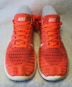 6c7b53f64f19 Nike Free Run Fly Knit Shoes Women s Hyper Orange White Running US 6 ...