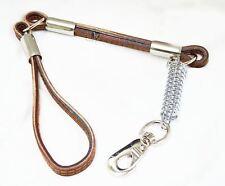 New Jumbo Heavy Duty Dog Training Lead Collar Pet Leather Strap Harness Chain