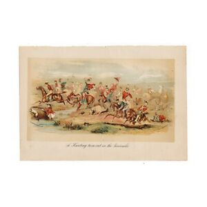 Antique-Phiz-chromo-lithograph-from-034-The-Templeogue-Lever-034-from-1882