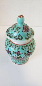Vintage-Porcelain-Chinese-Mini-Ginger-Jar-Light-Blue