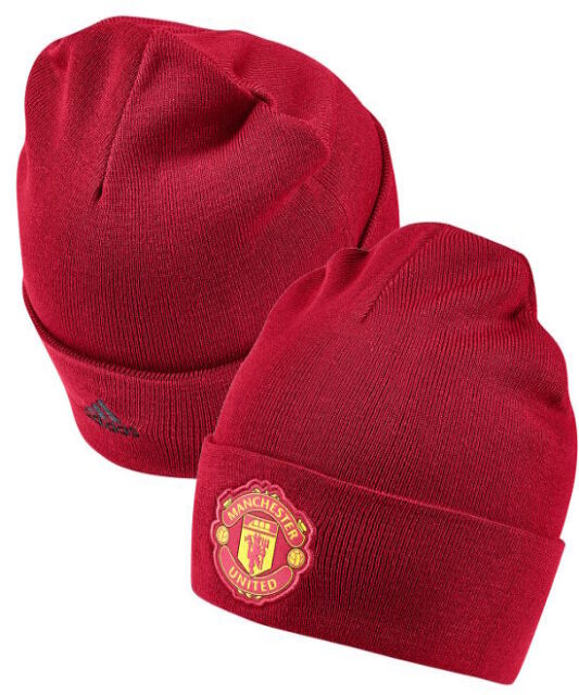 Manchester United Adidas Cappello di lana invernale WOOLIE Beanie tg unisex