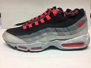 59f1e17eac34 Rare🔥 Nike Air Max 95 Black Hot Red Neutral Gray Sz 11.5 (609048 ...