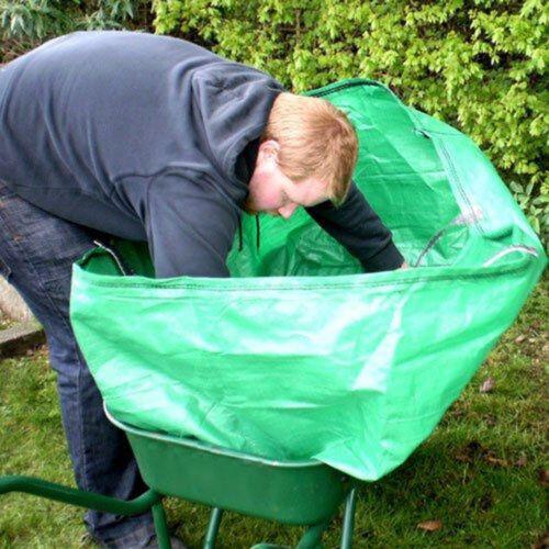 Garden /& Farm Wheelbarrow Bag Heavy Duty Increased Capacity Grass Leaves 270L