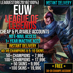 League-of-Legends-Account-LOL-Euw-Unranked-Lvl-30-All-Champs-Skins-Gold-Smurf