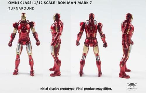 Comicave 1 12 Aleación Iron Man MK7 MkVII Figura Movible Modelo Juguete Regalo