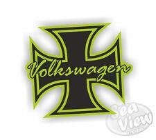 Volkswagen Iron Cross Green Retro Car Van Sticker Funny Decal Stickers VW