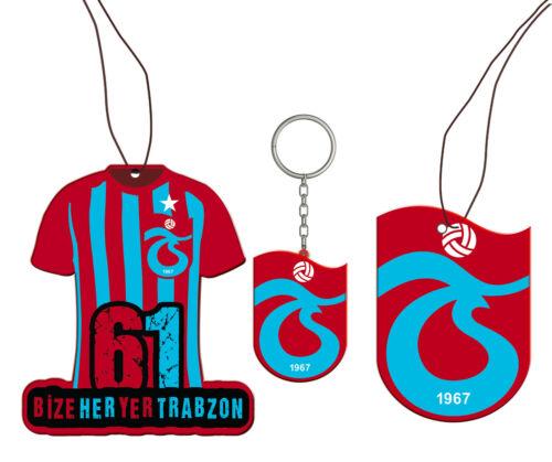 Duftbaum und Schlüsselanhänger Trabzonspor 2x Duftbaum /& 1x Schlüsselanhänger
