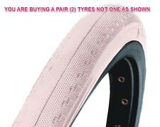 PAIR WHITE 700x23c DSI TYRES FOR RACING ROAD BIKE SPORTS RACER SEMI-SLICK SRI-89
