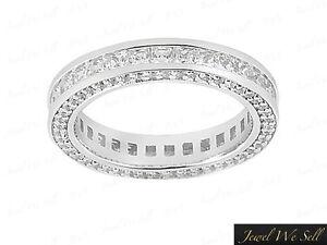 2-50Ct-Princess-Cut-Diamond-Eternity-Band-Wedding-Ring-950-Platinum-F-VS1