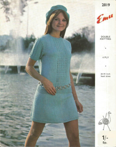 Vintage knitting pattern pull et jupe très mod