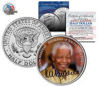 Nelson Mandela President Of South Africa 1994-99 Jfk Half Dollar Us Mint Coin