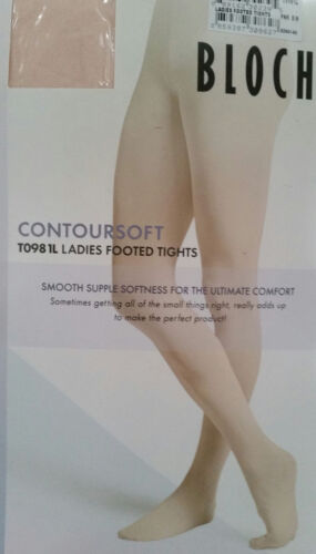 Bloch TO981 Contour Soft Footed Ballet//Dance tights Pink White /& Bloch Tan
