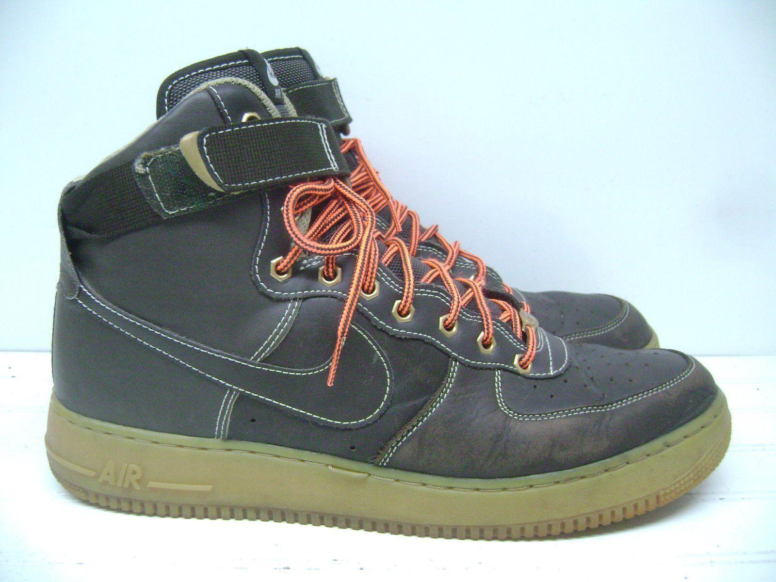 Nike air force 1 af1 alto barocco brown gomma solo uomini scarpe 13