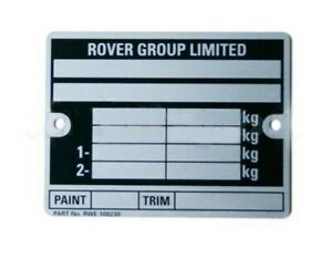 CLASSIC-MINI-039-ROVER-GROUP-LIMITED-039-CHASSIS-PLATE-CP477-INCLUDING-STAMPING