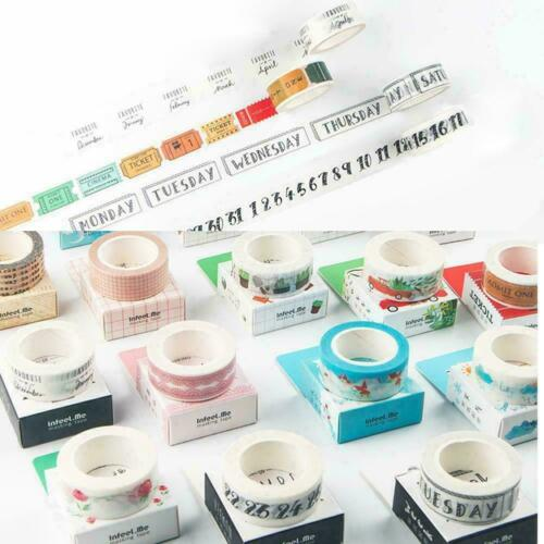 Washi Tape Tag der Woche Student Travel Home Decor Aufkleber D8B6