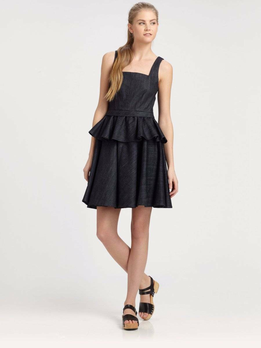 NWTMarc by Marc JacobsTailored Denim Peplum DressS S 20132 398SOLD OUT