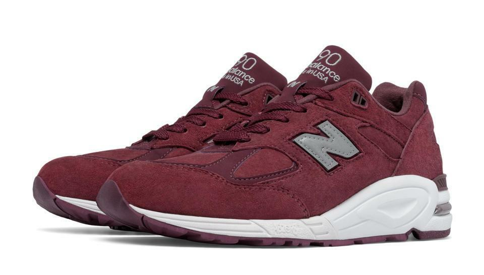 NEW BALANCE  A 990 990v2 M990CIT2 MADE IN  A BRINGBACK SUEDE - BURGUNDY/WHITE
