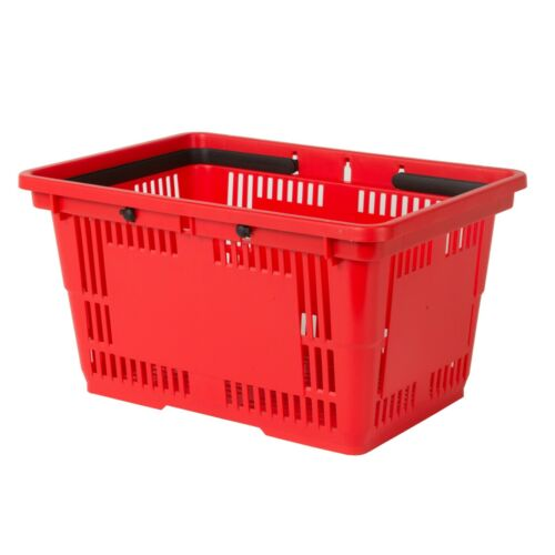 Pack Of 12 Shopping Baskets With Handles Choice Of 4 Colors 5.25 Gallon