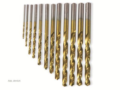 10 Stück HSS-Spiralbohrer titaniumbeschichtet 1,00 mm