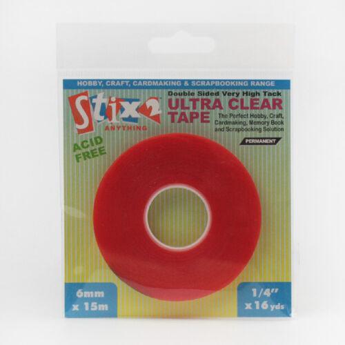 Scrapbooking 6mm x 15m Stix 2 Ultra Clear Tape Memorybook S57085~ Card