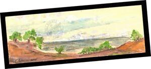 Pierpont-Bay-Ventura-2014-Original-Watercolor-PAINTING-Landscape-Seascape-SIGNED