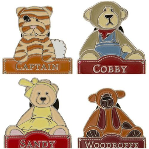 Alice's Bear Shop Bears - Pin Badges - Captain, Cobby Etc - Charlie Bears - New