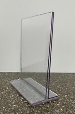 18 Acrylic Clear Table Display Sign Frame Holder 5x7 Ads Event Photo 5pc New