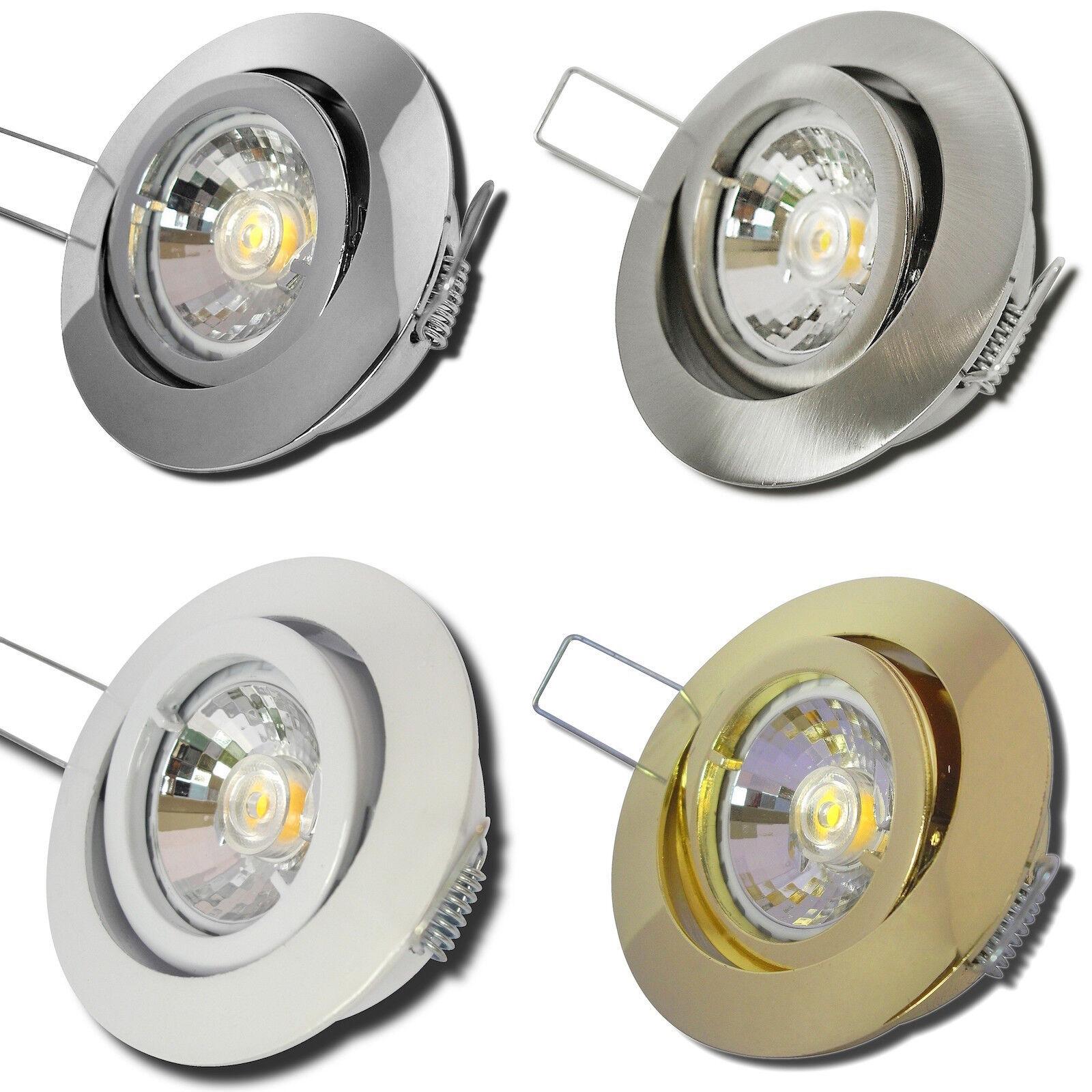 Sets- LED Einbaustrahler Timo 230Volt Einbauspots 3W=35W Spots - Deckenstrahler