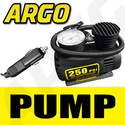 NEW MINI AIR COMPRESSOR 12V 250 PSI BOAT PUMP CAR VAN